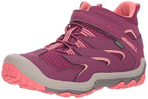 Merrell Kids' Unisex M-Chameleon 7 Access Mid A/C Wtrpf Hiking Shoe, Berry/Coral, 12 Medium US Little Kid