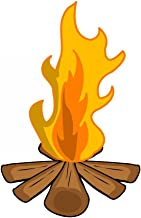 Wallmonkeys Camp Fire Wall Decal Peel and Stick Graphic (30 in W x 23 in H) WM126497