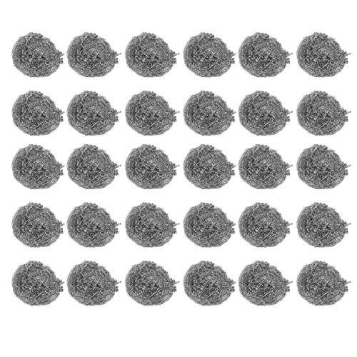 Bola de limpieza Herramienta de limpieza de cocina Bola de alambre de acero Almohadillas para fregar Fregadora de bolas Almohadillas para fregar Bola para limpiar ollas Sartenes Hornos