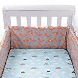 Parachoques de cuna para cuna de bebé, protección contra colisiones, parachoques extraíble de tela de algodón