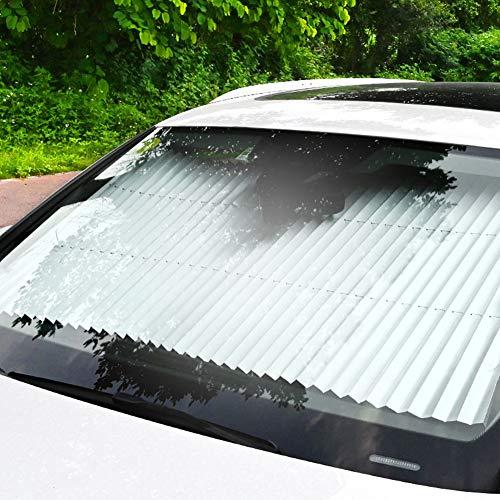 YAMAXUN Auto Sonnenjalousien-Sonnenschutz Und Wärmeisolierung Automatisch Versenkbare Autoschirme, Windschutzscheibenfenster Sonnenschirme,b