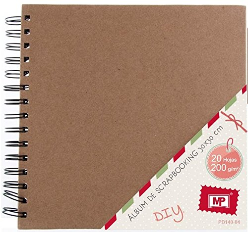MP PD140-04 - Album para scrapbooking, 30 x 30 cm, 200 gr, color kraft