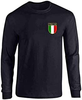 Italy Soccer Retro National Team Full Long Sleeve Tee T-Shirt