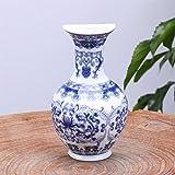 Bolange Jarrn de cermica clsico montado en la Pared jarrn de Porcelana Azul y Blanco jarrn de Porcelana Tradicional Chino montado en la Pared Pintura de la Flor decoracin del hogar - # 3