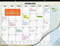 DEVENEZ ORGANISÉ - Affichez un mois entier en un coup d'œil ! Planifier deviendra un jeu d'enfant avec votre nouveau calendrier 2019-2020 PARFAIT DANS TOUS LES ENVIRONNEMENTS - Un agencement de couleurs séduisant conçu pour s'adapter à n'importe quel...