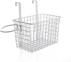 SKGOFGODcw Home Storage Bins Wrought Iron Hanging Basket, Wall Hanging Bathroom Rack, Kitchen Rack Storage Basket, Dual-pu...
