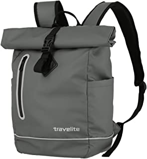 Travelite Basics 096314-20 - Mochila para bicicleta (material impermeable, con reflectores, 48 cm, 19 L)