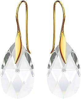 Beforya Paris - Wonder of Heaven - 35 Colors - Silver 925/Goldplated 24K Hook Earrings - Earrings for Woman - Earrings with Swarovski® - Jewellery with Bag and Gift Box PI0/72