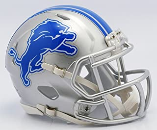 Detroit Lions New 2017 Logo Riddell Revolution Speed Mini Football Helmet