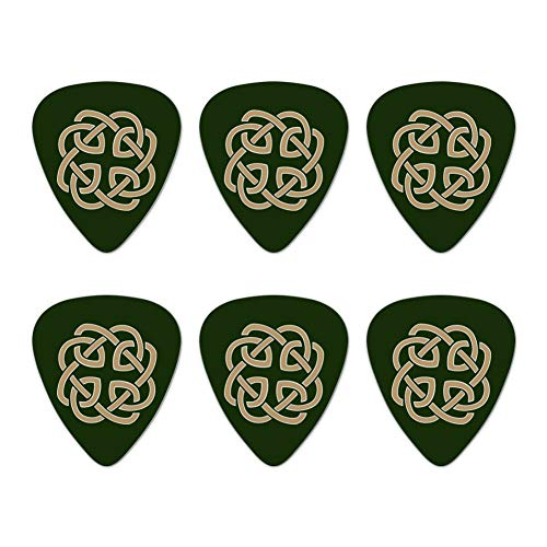 Celtic Knot Love Eternity Novelty Guitar Picks Medium Gauge - Set of 6