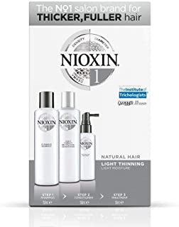 Nioxin System 1 Starter Kit For Fine Hair, Normal to Thin-Looking Hair: Cleanser 300ml + Scalp Therapy Conditioner 150ml +...