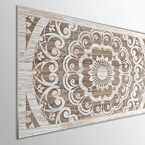 MEGADECOR DECORATE YOUR HOME Cabecero Cama PVC 5mm Decorativo Económico. Modelo - Quinnipiac (150x60cm)