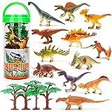 Mini Figuras Dinosaurios 16 Piezas, Animales Plastico Decoración de la Torta, Juguetes por 3 Años Niños Niñas