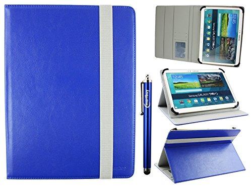 emartbuy Universal 9-10 Zoll Royal Blau Multi Angle Folio Brieftasche Case Cover Mit Card Slots Grau Elastische Strap Und Stylus Stift Geeignet Für Ausgewählte Geräte Aufgeführt Unten