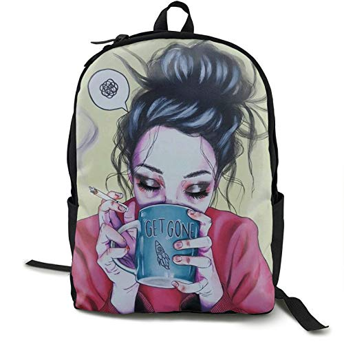 Goth Gotik Gothic Boring Women Girl Art Backpack Fun Basic Sackpack For Unisex Large Capacity Fits15.6 Inch Computer Laptop Bag Or Book Clothes
