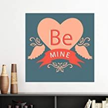 Valentine's Day Pink Red Be Mine Vinyl Wall Sticker Wallpaper Room Decal