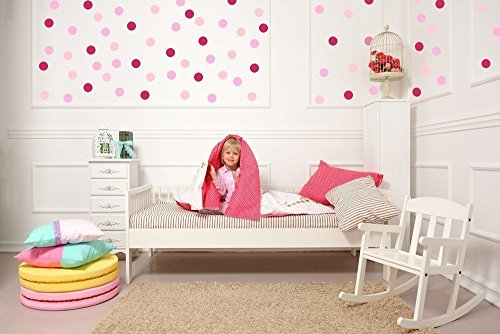 Polka Dot Wall Decals Easy Peel and Stick Matte Finish Removable Decals Multiple Sizes and 45 Colors Available Made in the USA