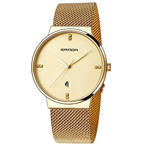Fantastic Deal! Strong Durable Sanda Business Quartz Watch Simple Indicator Round Digi Finished Steel Band Mental Watch for Men Online
