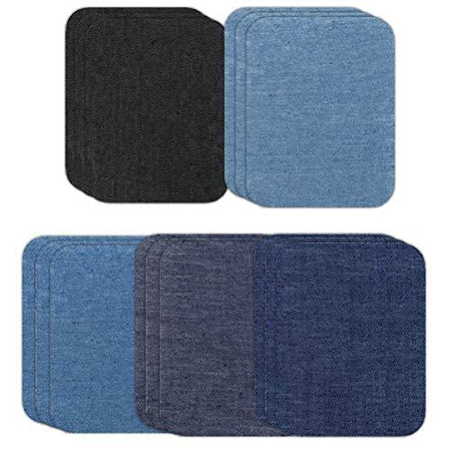 Opplei patches om op te strijken 15 stuks patch stickers DIY zakken strijkpatch katoen strijkijzer denim patches jeans reparatieset voor kleding reparatie