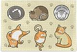 Puzles para adultos, 500 unidades, diseño de gato de dibujos animados, divertidos puzles para niños, paquete de rompecabezas, 15 x 20 pulgadas