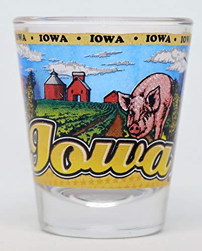Iowa State Wraparound Shot Glass
