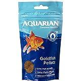 AQUARIAN Complete Nutrition, Aquarium Goldfish Food Pellets Also Suitable For Small Pond Fish, 284 g Bag