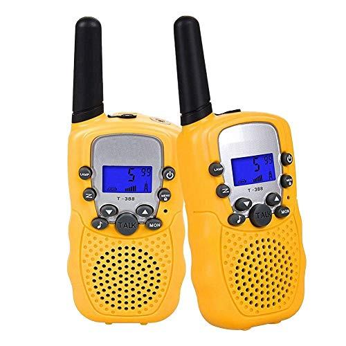 Kids Walkie Talkie Children Toy Handy Portable Wireless Channel Functional Yellow for Outdoor Camping