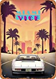 Wanfst Vintage Look Metal Sign - Movies Miami Vice - 8 x 12 Tin Sign