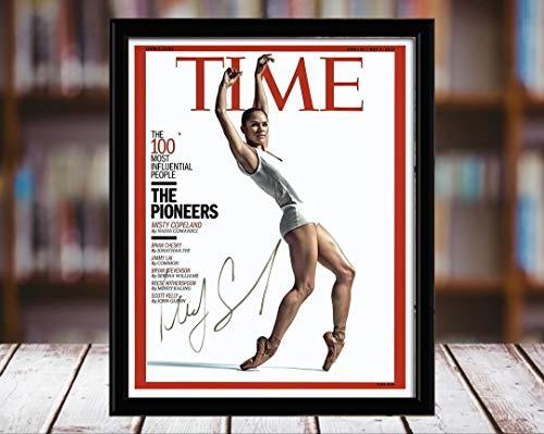 Misty Copeland Autograph Replica Print - Time Magazine - 5x7 Desktop Framed Print - Portrait