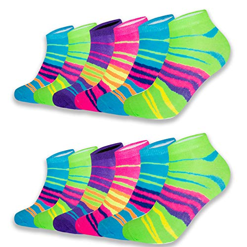 L&K-II 12 Paar Baumwolle Damen Sneaker Socken Füßlinge EDS92238 39/42