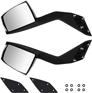 LEAVAN Hood Mirrors Truck Assembly Driver (Left Side) and Passenger (Right Side) Pair(Black) Black Hood Mirrors for VOLVO VNL,Suitable for Suitable for Volvo VNL 2000-2015