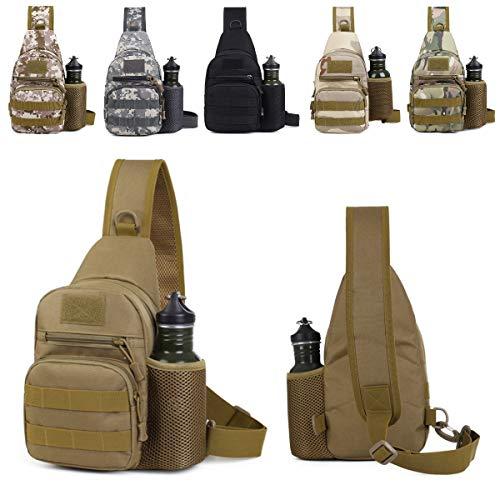 tobilu® Taktische Umhängetasche, Molle Schultertasche, Bundeswehr Brusttasche, Outdoor-Multifunktionsbrusttasche (TT-Digital)