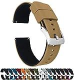 20mm Khaki Tan/Black - Barton Elite Silicone Watch Bands - Quick Release - Choose Strap Color & Width