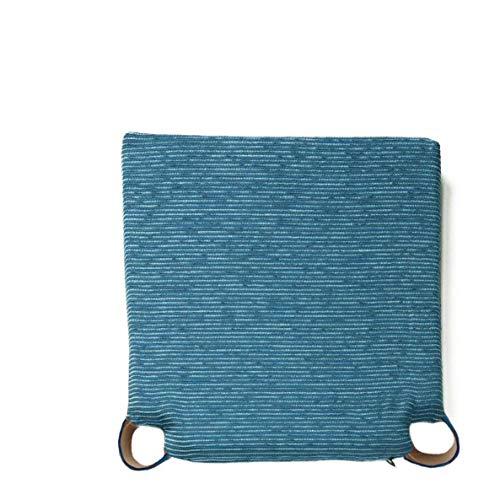 Arcoiris Pack 6 Almohadillas para sillas Cojines 40x40cm, Relleno de Fibra y Espuma, Cómodos, Resistentes, Fácil de Limpiar, para Cocina, Cuarto, Sala, Jardín, Terraza, Patio (Azul, Fantasy)