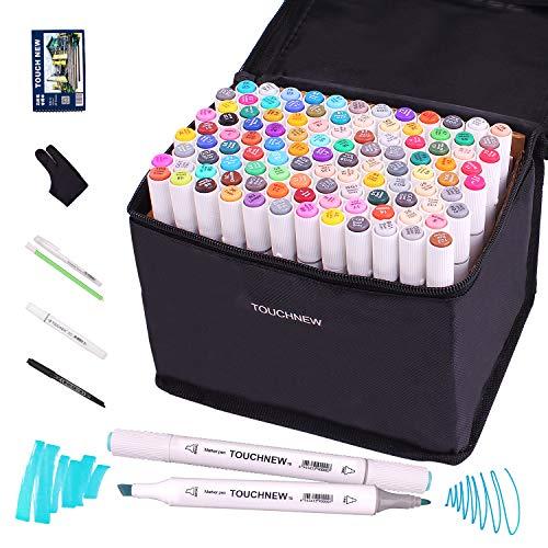 108 Farben Schwarz Twin Marker breite und feine Spitze Grafik Marker Pen (108 Farben)