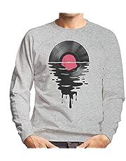 Vinyl LP Record Sunset heren sweatshirt