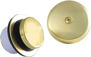 Kingston Brass DTT5302A7 Easy Touch Toe-Tap Tub Drain Kit, Brushed Brass