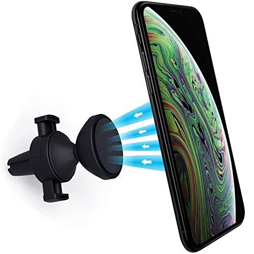 Power Theory Handyhalter fürs Auto - Magnet Handyhalterung für iPhone 11 Pro Max XR X XS 8 7 Plus 6s SE Samsung S20 S10 S9 S8 S7 S6 Lüftung Halterung Smartphone Handy Halter Universal Autohalterung