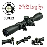 TACFUN - Field Sport Long Eye Relief Scout Scope 2-7X32 w/Weaver Scope Rings