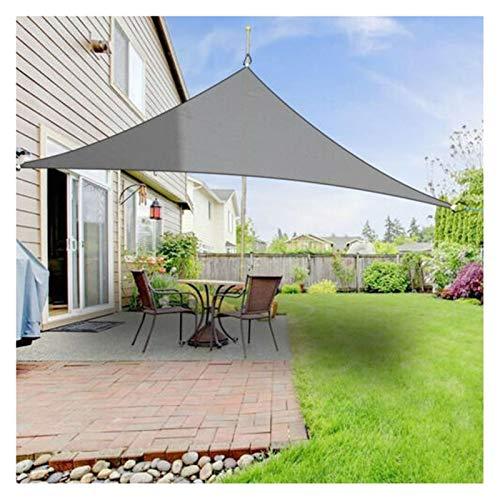 ZXD Vela De Sombra De Sol Impermeable Respirable Triángulo Paño De Poliéster 98% De Bloqueo UV Toldo Protector Solar para Fiesta En El Patio En El Jardín Al Aire Libre (Color : Gray, Size : 4x4x4m)