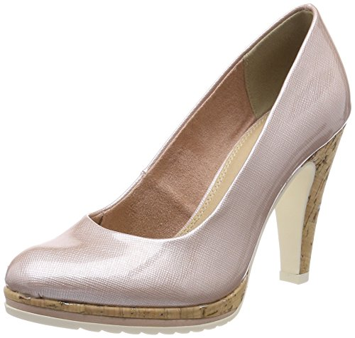 MARCO TOZZI Damen 22401 Pumps, Pink (Rose STR. Pat.), 38 EU