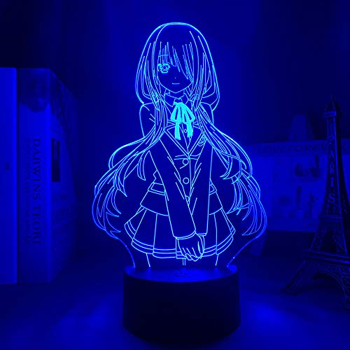 3D Nacht Lampe Illusion Lampe Osterdeko Led Light Anime Date A Live Kurumi Tokisaki for Kids Bedroom Decor Night Light Brithday Gift Room Desk 3d Lamp Date A Live Manga ZMSY