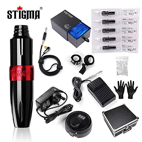 Stigma Tattoo Machine Kit Rotary Tattoo Machine Pen 20pcs Tattoo...