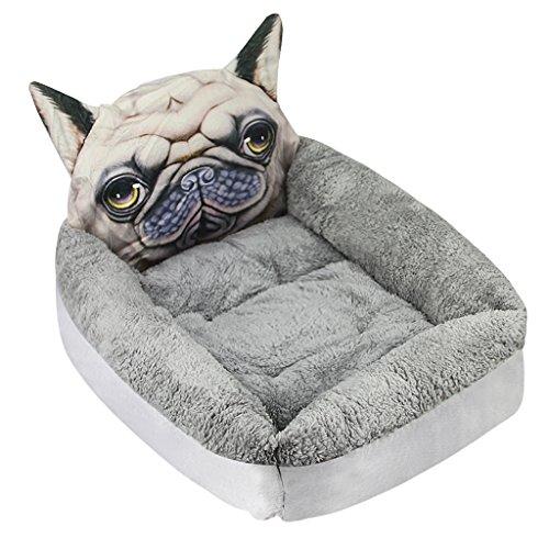 FakeFace Lustiges Hundebett Katzebett Hundekissen Hundesofa Hundematte Weiche Warme Plüsch Schlafsack Schlafplatz Betten für kleine Hunde Katze Haustier