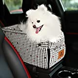 YIDUFEISUO Dog Car Seat Small Cat and Dog Booster Car Seat on The Car Console is Perfect for Small Pet Travel Safety Car Seat and be Disassembled for Easy Clean Suitable for A Flip-top Armrest Box
