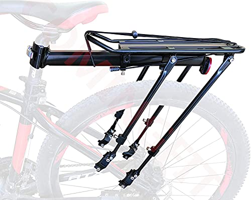 COMINGFIT Capacidad de 80 kg, portabicicletas Ajustable Portaequipajes-Estante Súper Fuerte Mejora Estante para Bicicletas 4-Strong-Leg Bicycle Carrier