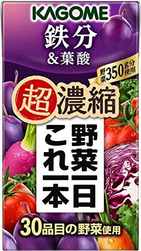 野菜一日これ一本 超濃縮 鉄分 125ml×96本 紙パック