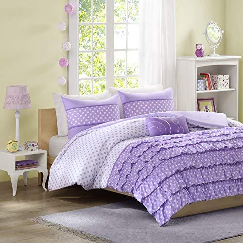 Mizone Morgan 4 Piece Comforter Set, Full/Queen, Purple