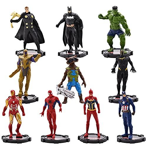 Avengers Cake Topper, Hilloly 10 Pezzi Decorazioni Torta Supereroe Decorazioni per Torte di Compleann Festa Superhero Cake Topper Cartoni Animati Decorazioni per Bambini Compleanno Shower Party