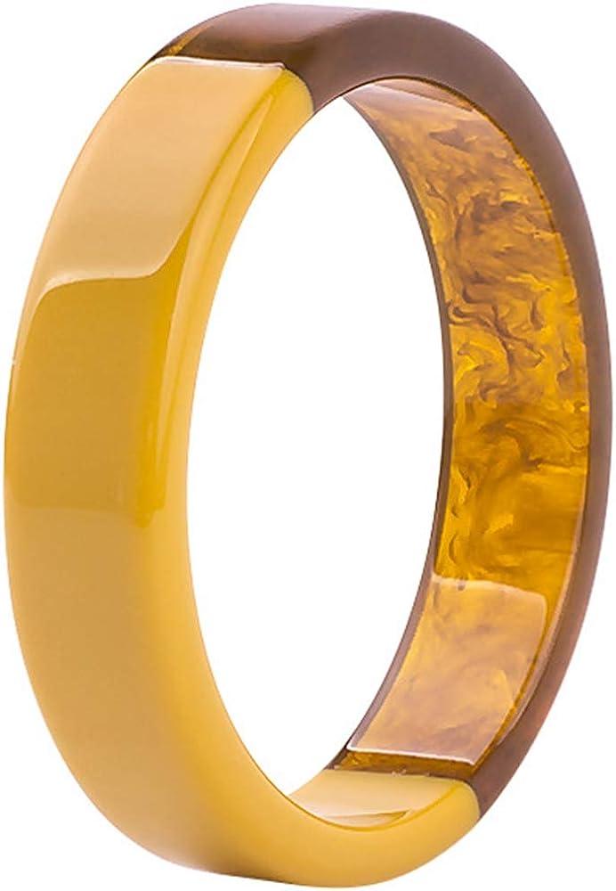 Jude Jewelers Imitation Jade Glass Acrylic Resin Plastic Statement Cocktail Party Holiday Bangle Bracelet